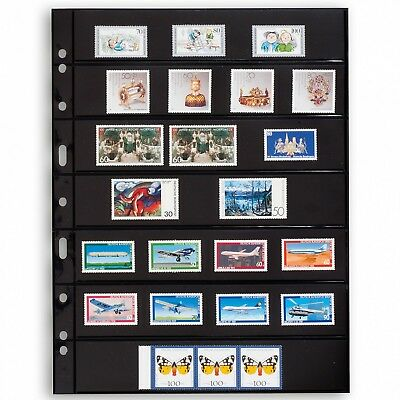 Lighthouse Grande 7 Row Stamp Stock Pages Archival Quality 5 Black Double Sheets