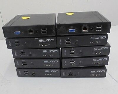 Job Lot x 10 Sumo ST166 Thin Clients AMD Geode LX 800 500MHz 512MB 1GB Flash IDE