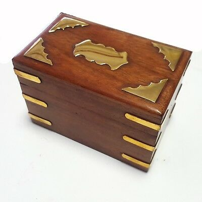 Playing Cards 2 Decks Card Game Set Travel Rosewood Box Bridge Poker Gift