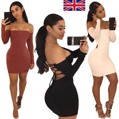 Sexy Women Lady Bandage Bodycon Evening Party Cocktail Club Short Mini Dress UK