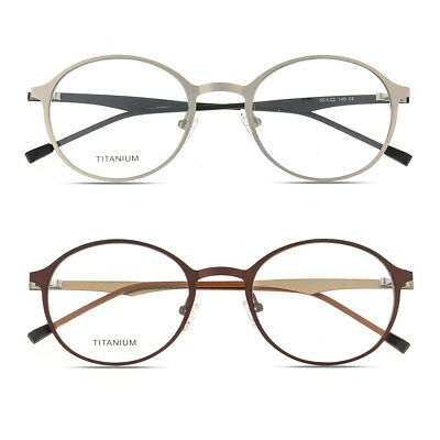 Vintage Oval Glasses Spring Hinge Optical Titanium Eyeglasses Frames RX Able