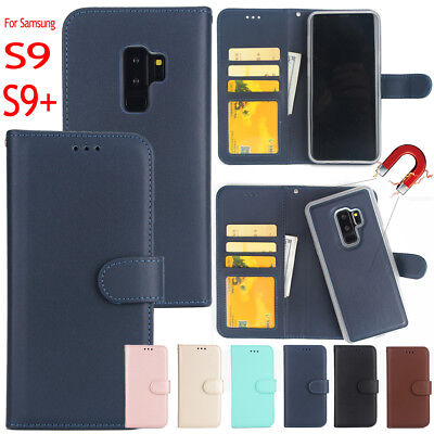 For Samsung Galaxy S9 Plus Leather Retro Card Purse Cover Flip Wallet Book Case