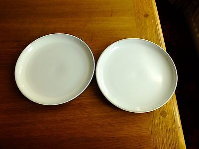 Two Denby Lunch / Salad Plates Poss Signature White