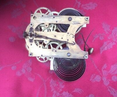 Ansonia American Clock Movement For Spares Or Repair 5""