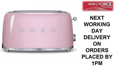 SMEG TSF02PKUK Pink 50's Retro Style 4 Slice Toaster - 2 Year Guarantee - NEW