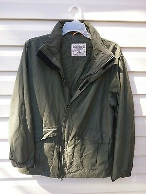 Mens Jacket Timberland Light Weight medium Jacket Army Green.Packable 7.00 ship