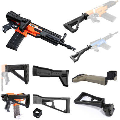 Worker Mod Shoulder Stock Replacement Black For Nerf N-strike Elite Modify Toy