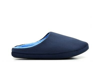Mens Mule Slippers Mens Mules Slip On Slippers Comfortable Soft Warm Navy Size