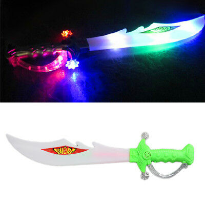 Rainbow LED Electric Flashing Light Up Sword Sound Dragon Children Toy