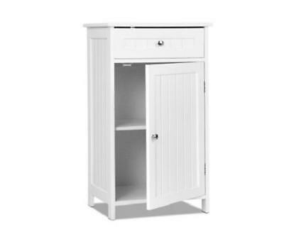 Laundry Bathroom Towels Linen Storage Organiser Cabinet Cupboard with Drawer