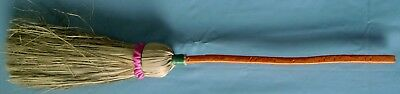 Hand Made Pair Of Indian Primitive Twisted Tree Branch Wooden Handle Whisk Broom