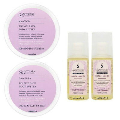 Sanctuary Spa MUM TO BE Body Butter - 2 x 300ml & Stretch Mark Oil - 2 x 150ml