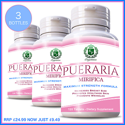 100% Potent Strongest Pueraria Mirifica Breast & Bust Enlargement 360 Tablets