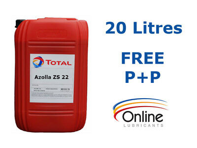Total Azolla ZS 22 High Performance Hydraulic Oil ISO VG 22 20 L Litres