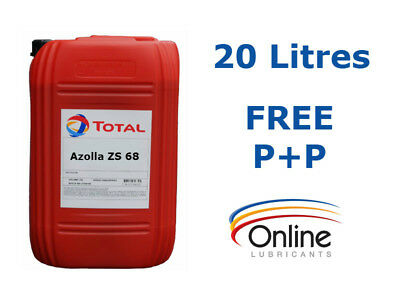 Total Azolla ZS 68 High Performance Hydraulic Oil ISO VG 68 20 L Litres