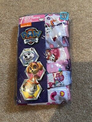 Paw Patrol Underwear Panties New 4t Girl 7 Pairs Nickelodeon