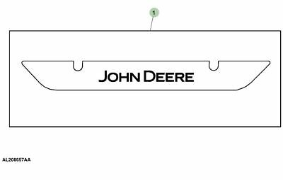 Genuine John Deere 6 Series Tractor Rear Screen Decal AL208657