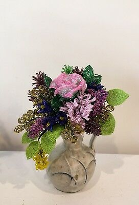 French beaded flowers ( Pink Rose Arrangement)