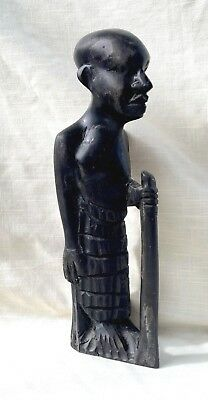 Vintage/Antique African Tribal Man Hand Carved from Ebony Wood