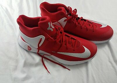 4ac28bf2c7c8 Nike Kd Kevin Durant Kd Trey 5 Iii Red White Men Shoes Size 17 856484 661