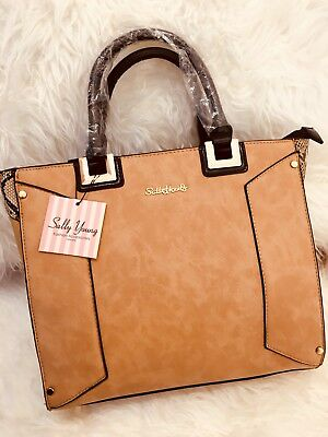 Sally Young Women Ladies Designer Rare Patchwork Large Tote Fashion Handbag