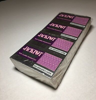 Rare - Full Sealed Book of 500 Florida Lottery Lotto Unscratched Tickets 1980's