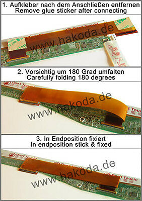 "40 PIN 15,6"" LCD LED Links nach Rechts Converter Kabel Adapter Screen Display"