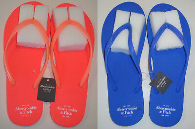 8a2fe0a9b432eb Abercrombie   Fitch Women s Rubber Sandals Flip Flops ❤ Coral or Blue ❤ M or
