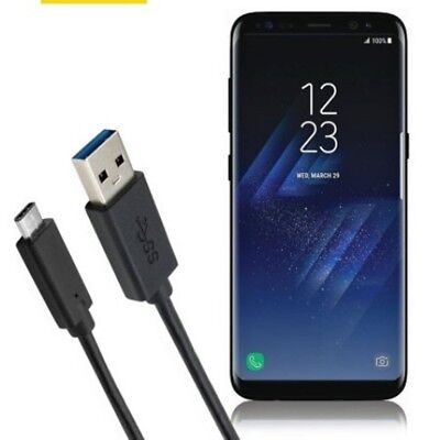 20AWG Long USB Type C 3.1 Fast Data Charger Cable Lead for Samsung Galaxy S8 S8