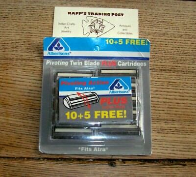 Atra PLUS 15 Twin Blade Cartridges Albertsons Store Package Fits Gillette Razor