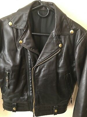 Vtg Columbia Langlitz Leathers Leather Men Women Jacket Motorcycle Biker - 1964