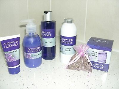 Cotswold Lavender Varied Set of New Bath and Body Products Value £45