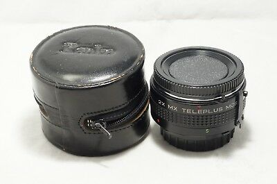 "2X MX Teleplus MC6 Teleconverter for Minolta SR/MD MF w/Case ""Good"" [5304430]"