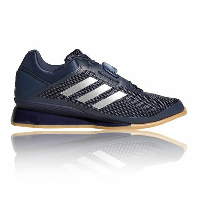 Adidas Leistung 16.II Weight Lifting Shoes Navy Blue Gym Trainers Weightlifting