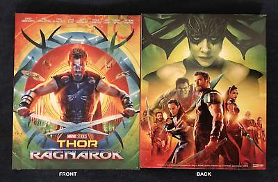 RARE OOP Thor: Ragnarok Target Exclusive Artwork Blu-ray Slipcover Only