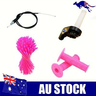 Quick Action Throttle Grip Twist Cable For 110 125CC PITBIKE Pit Dirt Bike Pink