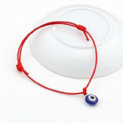 Good Luck Mati Bead Evil Eye Red String Kabbalah Bracelet Charm Protection
