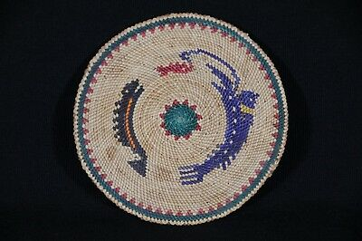Lovely Hand Woven First Nations Mat by Margaret Clutesi