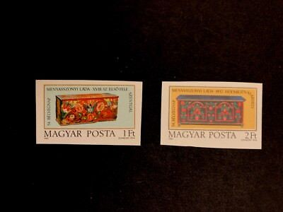 Hungary Scott No. 2700-01 MNH Imperforate Imperf Imp Bridal Chests - Stamp Day
