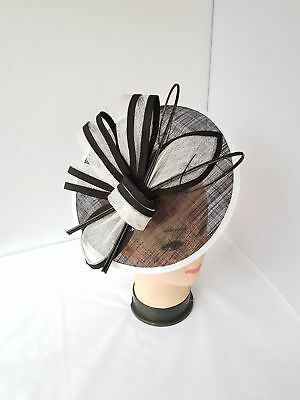 New Elegant Headband & Clip Hat Fascinator Weddings/Ladies Day Race Royal Ascot