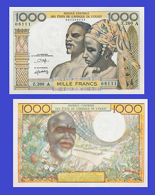 WEST AFRICAN STATES 1000 FRANCS 1958 UNC - Reproduction