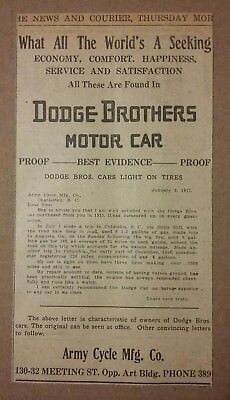 1917 Dodge Brothers Motor Car Company Ad