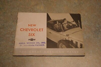 1932 New Chevrolet Six The Great American Value Car Dealership Brochure Booklet