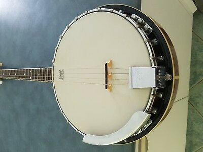 Aria Banjo 4 String With Remo Head Closed Back