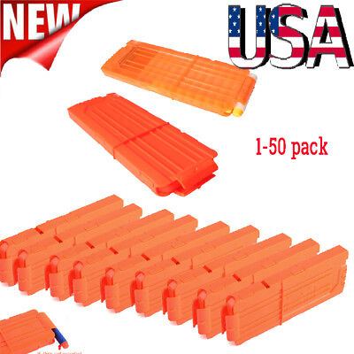 1-50pack 12 Reload Clip Magazine Bullets Darts Replacement for Nerf Kids Toy Gun