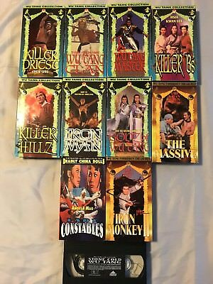 LOT OF VHS Kung Fu Movies Wu Tang Collection and Lady Constables