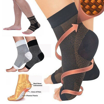 Copper Compression Socks for Plantar Fasciitis Night Splint Relieves Heel Pain