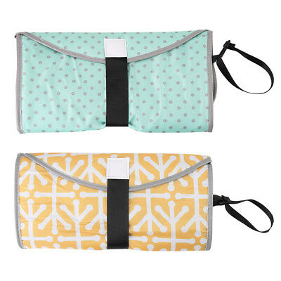 Baby Nappy Bag Diaper Changing Change Pad Clutch Mat Foldable Handbag Wallet
