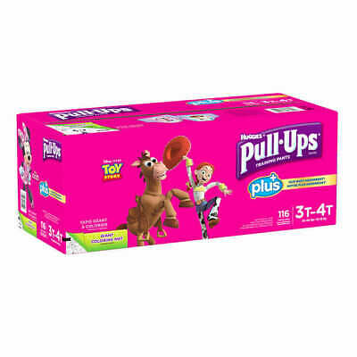 Huggies Pull-Ups Plus Training Pants Diapers for Girls Size 2T-3T, 3T-4T, 4T-5T
