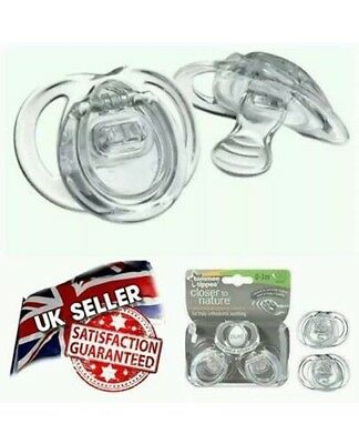 2 Tommee Tippee Closer to Nature Orthodontic Soother 0-3 Months clear BRAND NEW